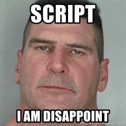 i am disappoint - Script I am Disappoint