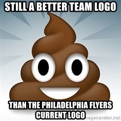 Facebook :poop: emoticon - Still a better team Logo Than the Philadelphia flyers Current Logo
