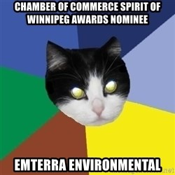 Winnipeg Cat - chamber of Commerce Spirit of Winnipeg Awards nominee emterra environmental