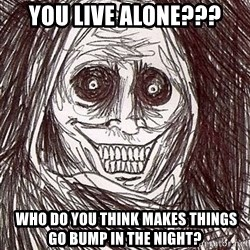 Horrifying Houseguest - You live alone???  who do you think makes things go bump in the night?