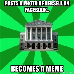 Tipichnuy BNTU - POSTS A PHOTO OF HERSELF ON FACEBOOK.. BECOMES A MEME