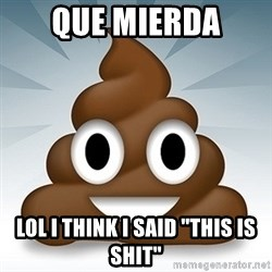 "Facebook :poop: emoticon - que mierda lol i think i said ""this is shit"""