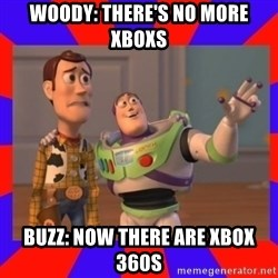 Everywhere - WOODY: THERE'S NO MORE XBOXS BUZZ: NOW THERE ARE XBOX 360S