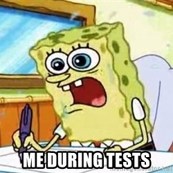 Spongebob What I Learned In Boating School Is -  me during tests