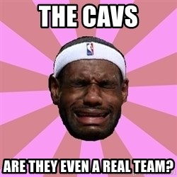 LeBron James - the cavs are they even a real team?