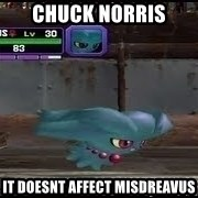 MISDREAVUS - Chuck norris it doesnt affect misdreavus