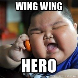 fat chinese kid - WING WING HERO