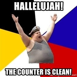Patriot - Hallelujah! the Counter is clean!