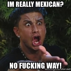 Pauly D - IM really mexican? no fucking way!