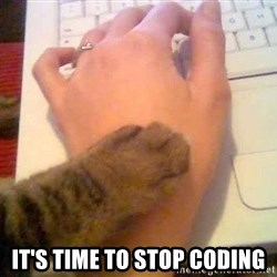 It's time to stop cat -  it's time to stop coding
