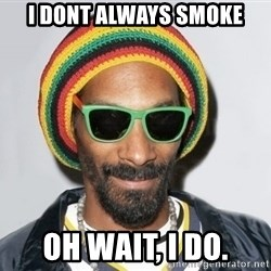 Snoop lion2 - I dont always smoke oh wait, I do.