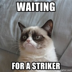 moody cat - Waiting for a striker