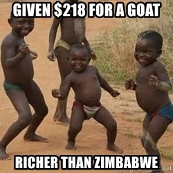 Dancing African Kid - Given $218 for a goat Richer than Zimbabwe