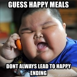 Fat Asian Kid - guess happy meals dont always lead to happy ending