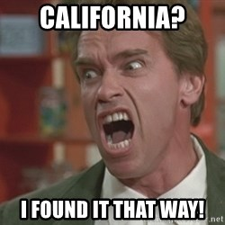 Arnold - California? I found it that way!