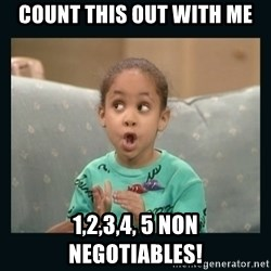 Raven Symone - count this out with me 1,2,3,4, 5 non negotiables!
