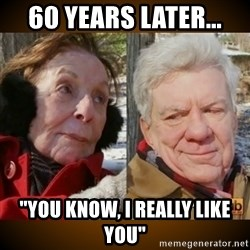 "Pornhub's Super Bowl Ad - 60 years later... ""you know, i really like you"""