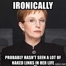 weakest link - Ironically Probably hasn't seen a lot of naked links in her life