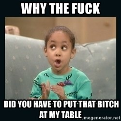 Raven Symone - why the fuck  Did YOu Have to put that bitch at my table