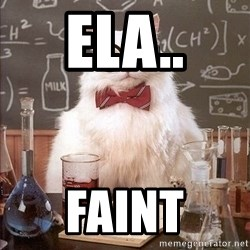 Chemistry Cat - ELA.. FAINT
