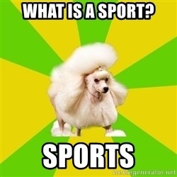 Pretentious Theatre Kid Poodle - What is a sport? SPORTS