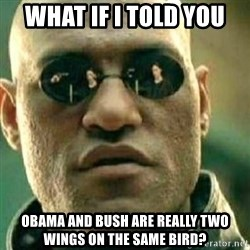 What If I Told You - what if i told you obama and bush are really two wings on the same bird?