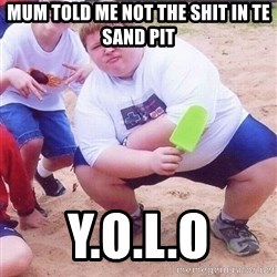 American Fat Kid - MUM TOLD ME NOT THE SHIT IN TE SAND PIT Y.O.L.O