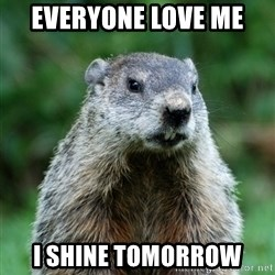 grumpy groundhog - Everyone love me  I shine tomorrow