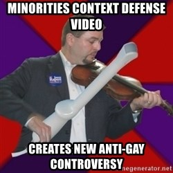 FiddlingRapert - minorities context defense video creates new anti-gay controversy