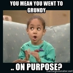 Raven Symone - YOU MEAN YOU WENT TO GRUNDY .. ON PURPOSE?