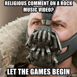 Bane - RELIGIOUS COMMENT ON A ROCK MUSIC VIDEO? LET THE GAMES BEGIN