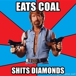 Chuck Norris  - eats coal shits diamonds