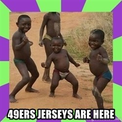 african kids dancing -  49ers jerseys are here