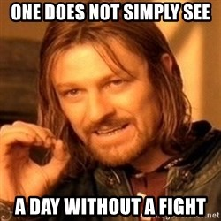 One Does Not Simply - one does not simply see a day without a fight