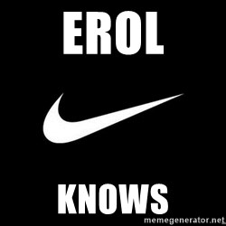 Nike swoosh - erol knows