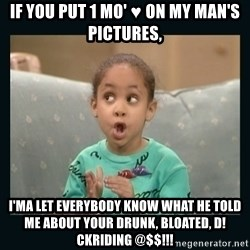 Raven Symone - if you put 1 mo' ♥ on my man's pictures, I'ma let everybody know what he told me about your drunk, Bloated, d! ckriding @$$!!!