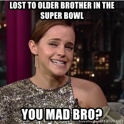 Emma Watson Trollface - lost to older brother in the super bowl you mad bro?