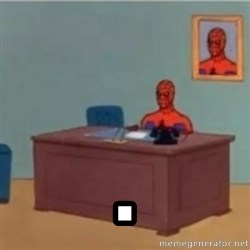 60s spiderman behind desk -  .