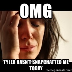 crying girl sad - Omg  Tyler hasn't snapchatted me today