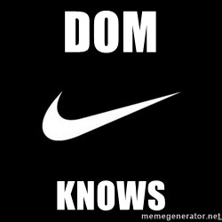 Nike swoosh - Dom Knows
