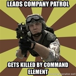 Arma 2 soldier - LEADS COMPANY PATROL GETS KILLED BY COMMAND ELEMENT