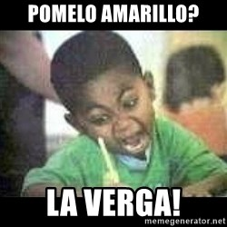 Black kid coloring - pomelo amarillo? la verga!