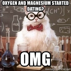 Chemistry Cat - OXYGEN AND MAGNESIUM STARTED DATING? Omg