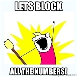 All the things - Lets block all the numbers!