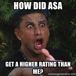 Lookathim - how did asa Get a higher rating than me?