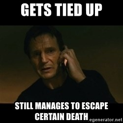 liam neeson taken - GETS TIED UP STILL MANAGES TO ESCAPE CERTAIN DEATH