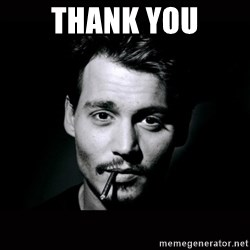 johnny depp - Thank you