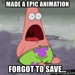 D Face Patrick - Made a epic animation forgot to save...