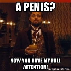 you had my curiosity dicaprio - A Penis? Now you have my full attention!