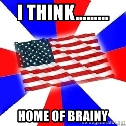 American Flag - I THINK......... HOME OF BRAINY